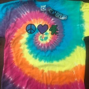 1994 Grateful Dead print tie dye T-shirt A112